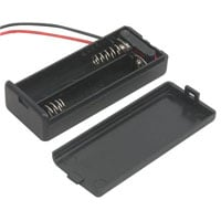 View SBH-421-AS-R: Battery Holder 2 AAA Wires with Cover and Switch