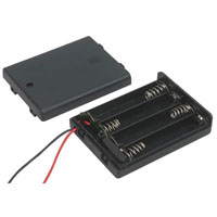 View SBH-441-AS-R: 4 AA Battery Holder with 6 Inch Wires