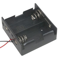 View BH-121-1A-R: Battery Holder 2 D Wires