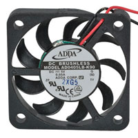 View AD0405LB-K90(S): 5 Volt DC Brushless Fan 4.5 CFM Ball/Sleeve
