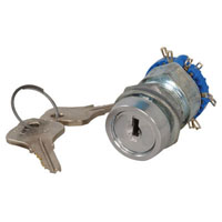 View KC77362: Single Pole 4 Throw 4 Position Keylock Switch