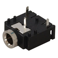 View ASJ-1-3: PC Mount Flat Stereo Audio Jack 3 Contact 3 Contact Forms
