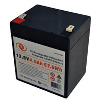 View LFP128045: 12.8V 4.5AH 57WH Lithium Iron Phosphate (LIFEPO4) Rechargeable Battery