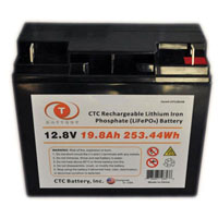 View LFP128198: 12.8V 19.8AH 253WH Lithium Iron Phosphate (LIFEPO4) Rechargeable Battery
