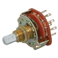 View SR2511F-25FN: 2 Pole 5 Position Rotary Switch