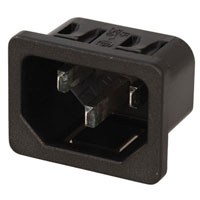 View 6100-4115: Male AC Receptacle 10A 250V (Power Connectors)