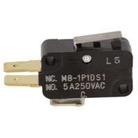 View M8-1P10S1: SPDT Micro Switch 5A 250 VA Contact Form: SPDT -Nc