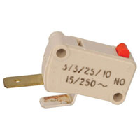 View 1033013: SPST Micro Switch 15A 250V AC (Basic)