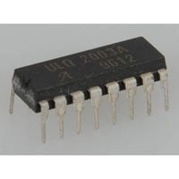 View ULQ2003A: 7 NPN Transistor Array 16 DIP Collector Emitter Voltage V (Br) Ceo: 50V (Bipolar)