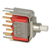 View 8225SD3V3BE: DPDT Pushbutton Switch 0.4VA 20VAC (Push Button)
