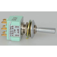 View MTF206T: DPDT Toggle Switch 125V 6A