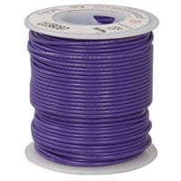 View 818-7*: 22AWG Dual Rated Stranded Hook-Up Wire 100 Foot Violet