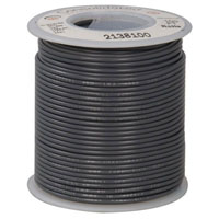 View 818-8*: 22AWG Dual Rated Stranded Hook-Up Wire 100 Foot Gray