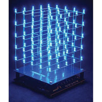 View K8018B: 3D LED Cube 5 X 5 X 5 (Blue LED) Cubeanimator 1.4 for Windows