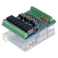 View KA05: I/O Shield Kit for Arduino 6 Relay Outputs
