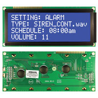 View NHD-0420E2Z-NSW-BBW: 20 Characters X 4 Lines LCD Module (Parallel)