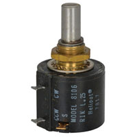 View 8106R1K-L.25: 10 Turn 1000 Ohm Hybrid Potentiometer