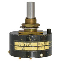 View SG279A-R2K-L.50: 1 Turn 2000 Ohm Wirewound Precision Potentiometer
