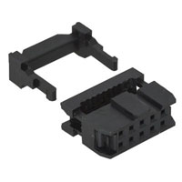 View 8000-6-R: 0.1 Inch (2.54MM) Polarized 6 Position IDC Socket Connector