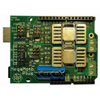 View MEGAMOTO PLUS: Megamoto Plus Motor Control Shield for Arduino
