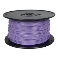 View 818-7-500: 500 Ft 22 AWG Dual-Rated Stranded Hook-Up Wire -Violet