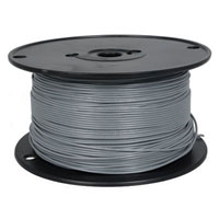 View 818-8-500: 500 Ft 22 AWG Dual-Rated Stranded Hook-Up Wire -Gray