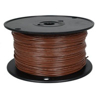 View 820-1-500: 500 Ft 20 AWG Dual-Rated Stranded Hook-Up Wire -Brown