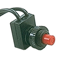 Green Off- On Miniature Metal Push Button Switch SPST