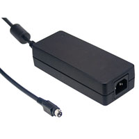 48 Volt 2500mA 120 Watt 3-Wire Regulated Switching Table Top Power Supply DIN4 Plug Level VI