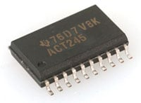 View SN74ACT245DW: Bus Transceiver Single 8 Channel 3 Straight 20 Pin SOIC