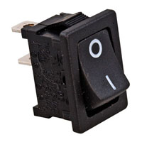 View R13-66A-B-02-R: Panel Mount Rocker Switch Contact Form: SPST on-Off