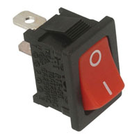View R13-66A-R-02-R: Panel Mount Rocker Switch Contact Form: SPST on-Off