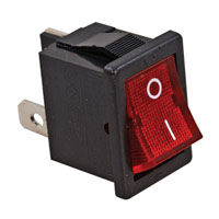 View R13-73B-R-02: Panel Mount Rocker Switch Contact Form: SPST on-Off