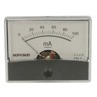 View AIM60100: Analog DC Current Panel Meter 100MA Range: 0 -100MA