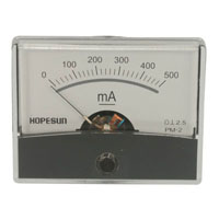 View AIM60500: Analog DC Current Panel Meter 500MA Range: 0 -500MA