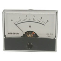 View AIM605000: Analog DC Current Panel Meter 5A Ammeter Range: 0 -5A