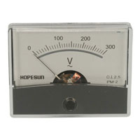 View AVM60300: Analog AC Voltage Panel Meter 300V Range: 0 -300V