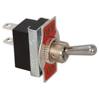 View R13-25A2-01: Standard Toggle Switch Contact Form: SPST on-Off