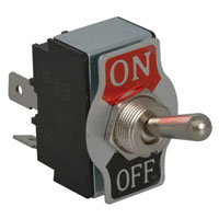 View R13-28A-01-R: Standard Toggle Switch Contact Form: SPST on-Off