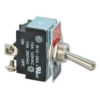View R13-28A-06: Standard Toggle Switch Contact Form: SPST on-Off