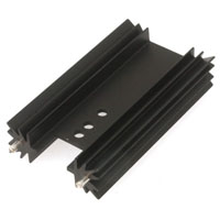 View 531302B02500-R: Heat Sink TO-220/2023 Holes Black Anodized