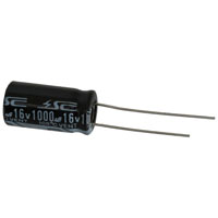 View RB1000/16-R: Capacitor Radial 1000uf 16V 20% 105C 10X20X5MM