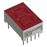 View UC5641R-11-R: Single Digit 7 Segment LED Display (7 Segment)