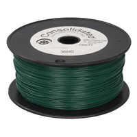 View 9313-5-R: 22 AWG Solid Hook-Up Wire 1000 Ft Color: Green