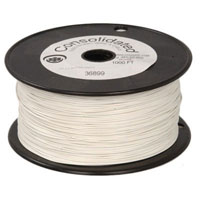 View 9313-9: 22 AWG Solid Hook-Up Wire 1000 Ft Color: White