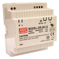 View DR-30-24: DIN-Rail Switching Power Supply Universal AC Input / Full Range