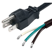 View GPC002C: 8 Foot Power Cord with Pigtail 3 Conductor