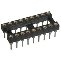View T/W 6100-24: Socket IC 24PIN Machine Tooled Slimline Low Profile