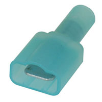 View 19004-0005: 19004 Fully Insulated Male Coupler Quick Disconnect Terminal 14-16 AWG