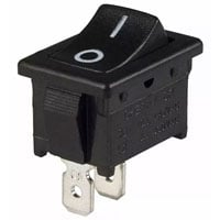 View SRB22A2FBBNN: Switch Rocker SPST 10A on-off Black